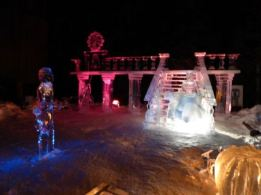 Cinderella, Prince Charming ice sculpture